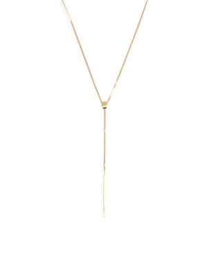 Made In Italy 14k Gold Herringbone Chain Y Neck Necklace