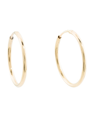 Made In Italy 14k Gold 18mm Hoop Earrings