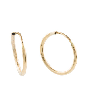 Made In Italy 14k Gold 8mm Hoop Earrings