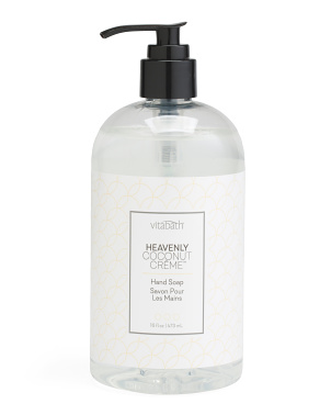 16oz Heavenly Coconut Creme Hand Soap