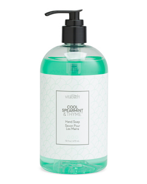 16oz Cool Spearmint And Thyme Hand Soap