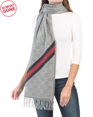 Made In Italy Wool Blend Scarf