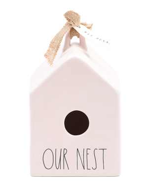 Our Nest Ceramic Birdhouse