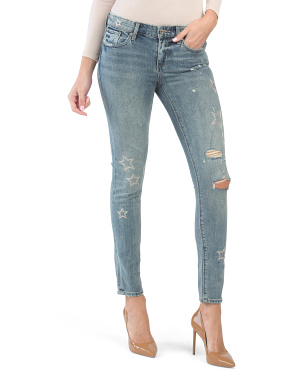 Stella Skinny Jeans With Embroidery