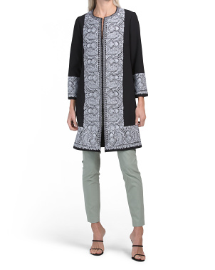 Duster Coat With Embroidery