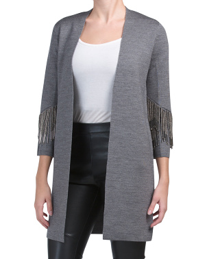 Beaded Fringe Cardigan