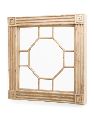 40in Carved Wooden Wall Mirror