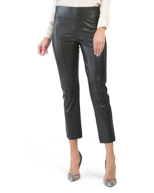 Gemma Straight Leg Faux Leather Pants