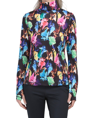 Printed Baselayer Stand Collar Top
