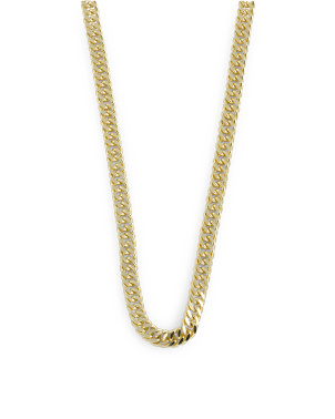 14k Gold Plated Sterling Silver Curb Link Chain Necklace