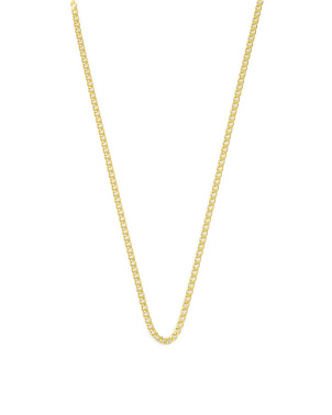 14k Gold Plated Sterling Silver Delicate Curb Link Necklace