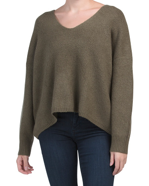 Ribbed Millie Flossy V Neck Sweater