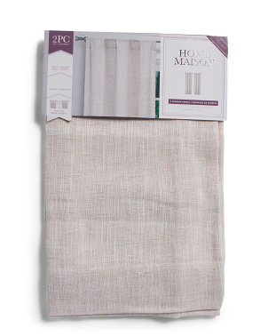 37x84 Set Of 2 Ciara Linen Look Curtains