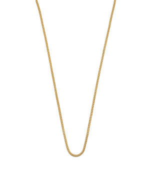 14k Gold Plated Sterling Silver Popcorn Chain Necklace