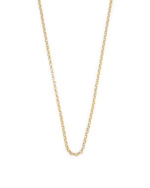 14k Gold Plated Sterling Silver Rolo Chain Necklace