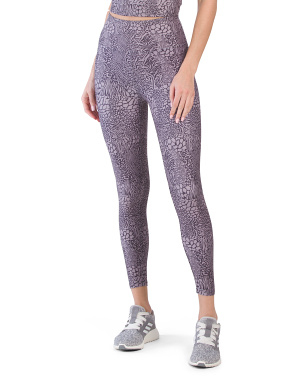 Peached Surface Printed Jersey Leggings
