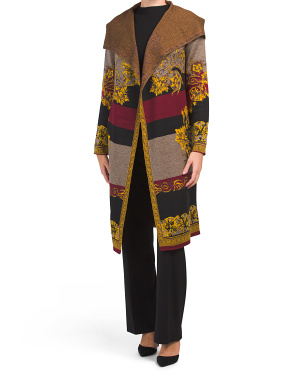 Color Block And Patterned Duster