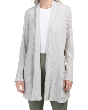 Merino Wool Long Cardigan