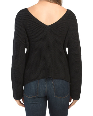 Sunset Road Low Back Sweater