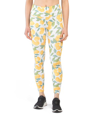 Luau Lemon Print Leggings