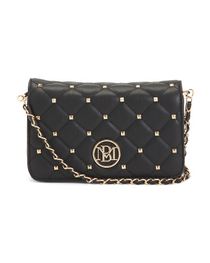 Quilted Studded Crossbody