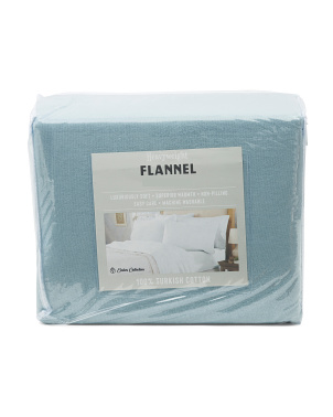 Solid Turkish Flannel Sheet Set