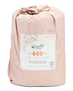 600tc Organic Cotton Sheet Set