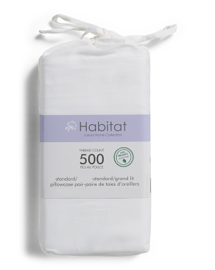 Organic Cotton 500tc Pillow Case Set
