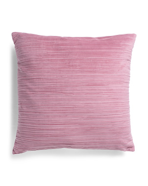 22x22 Velvet Pleated Pillow
