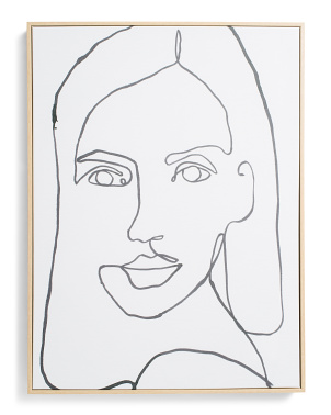 18x24 Contour Portrait Wall Art