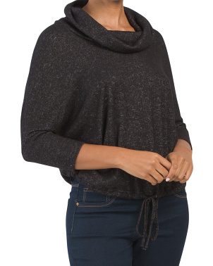 Three-quarter Sleeve Cowl Neck Top