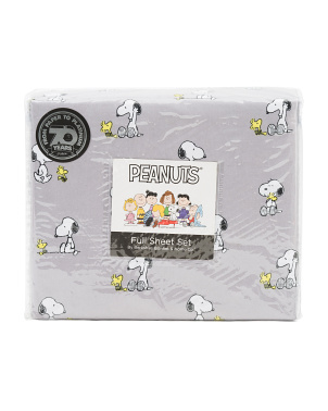 Snoopy And Woodstock Friends Sheet Set