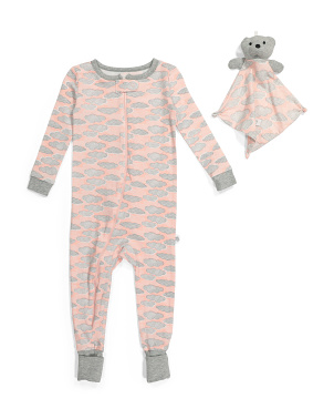 Infant Girl Cloud Coveralls