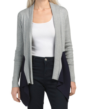 Juniors Drape Cardigan