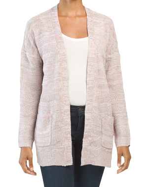 Juniors Open Cardigan With Pockets