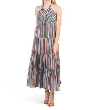 Winnie Striped Maxi Dress