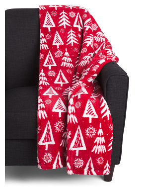 Christmas Tree Loft Fleece Decorative Throw