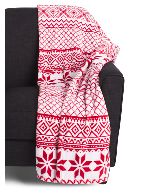 Nohl Nordic Loft Fleece Decorative Throw