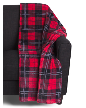 Penelope Plaid  Loft Fleece Decorative Throw