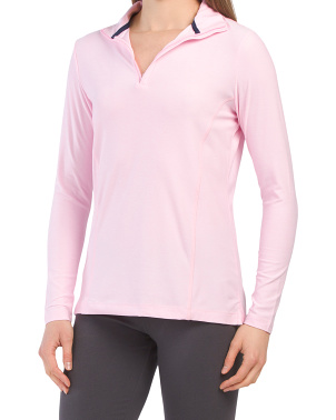 Melange Perth Quarter Zip Front Top