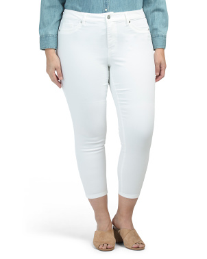 Plus Skinny High Waist Ankle Jeans