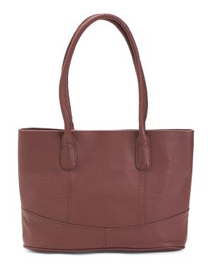 Perforated Casual Leather Tote
