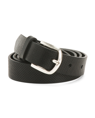 Made In Italy Perforated Leather Belt