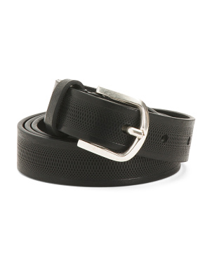 Made In Italy Snake Perforated Leather Belt