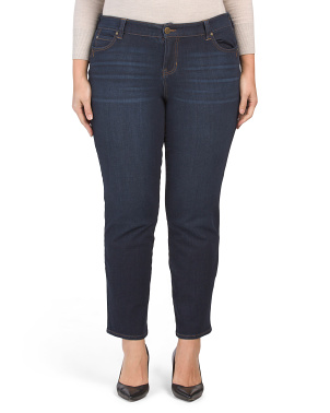 Plus Remy Shaping Straight Leg Jeans
