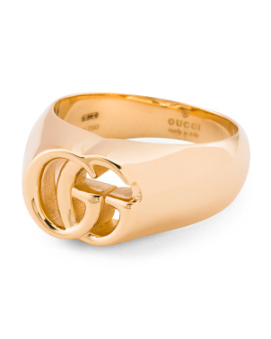 Made In Italy 18k Gold Running G 13mm Ring