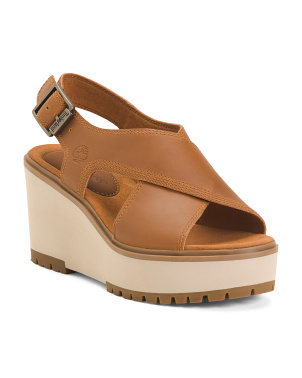 Comfort Cross Band Leather Sandals