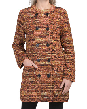 Made In Italy Wool Blend Double-breasted Coat