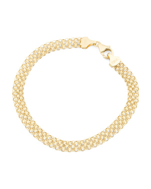 Made In Turkey 14k Gold Bismark Chain Bracelet