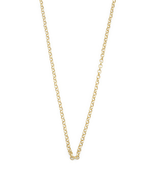 Made In Turkey 14k Gold Rolo Chain Necklace
